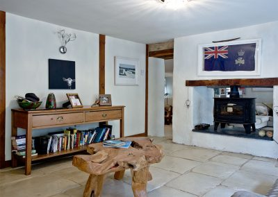 The living area at Gara Mill Cottage, Slapton