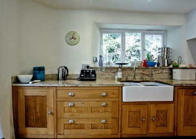 The kitchen at Gara Mill Cottage, Slapton