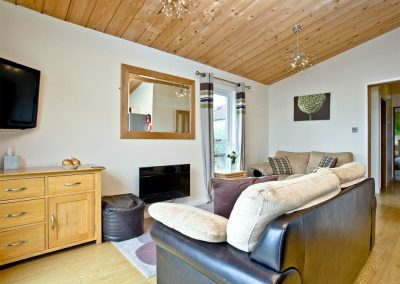 The living area at Garfield Lodge, Hawkchurch