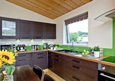 The kitchen at Garfield Lodge, Hawkchurch