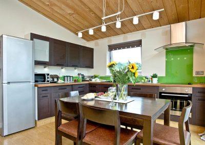 The kitchen & dining area at Garfield Lodge, Hawkchurch