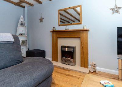 The living area at Gemstone Cottage, Brixham