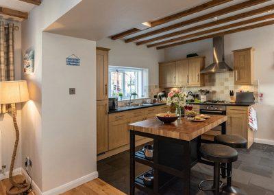 The kitchen at Gemstone Cottage, Brixham