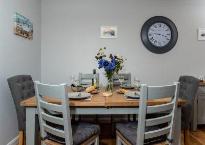 The dining area at Gemstone Cottage, Brixham