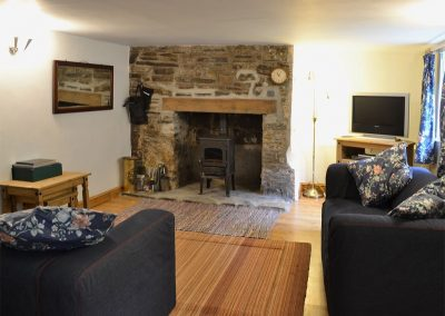 The living area at George's Cottage, Bucks Mills