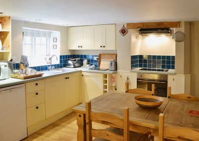 The kitchen & dining area at George's Cottage, Bucks Mills