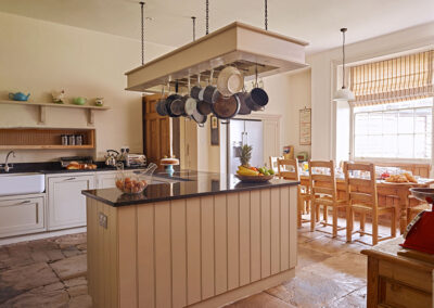 The kitchen at Gitcombe House, Gitcombe Estate, Cornworthy