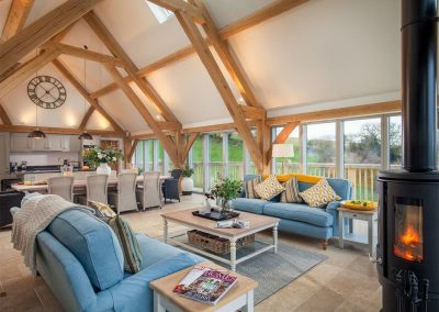 The living area at Gitcombe Retreat, Gitcombe House Country Cottages, Cornworthy