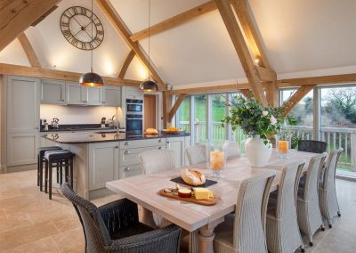 The kitchen & dining area at Gitcombe Retreat, Gitcombe House Country Cottages, Cornworthy