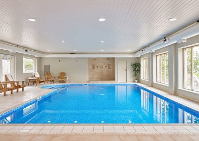 The heated indoor swimming pool at Gitcombe House Country Cottages, Cornworthy