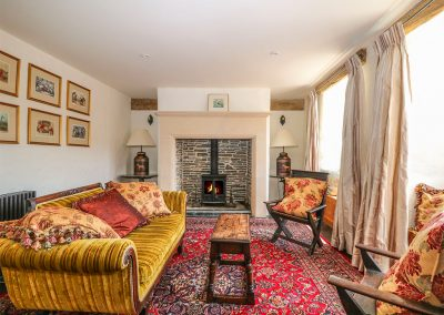 The living area at Glanville House, Mevagissey