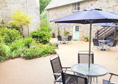 The courtyard outside Granary, Glebe House Cottages, Bridgerule