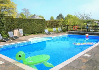 The swimming pool at Glebe House Cottages, Bridgerule