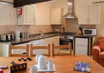 The open plan kitchen at Granary, Trimstone Manor Cottages, Trimstone