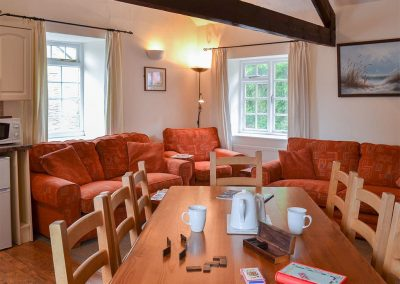 The open plan dining area at Granary, Trimstone Manor Cottages, Trimstone