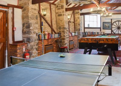 A games room is just one of the many onsite facilities at Trimstone Manor Cottages, Trimstone
