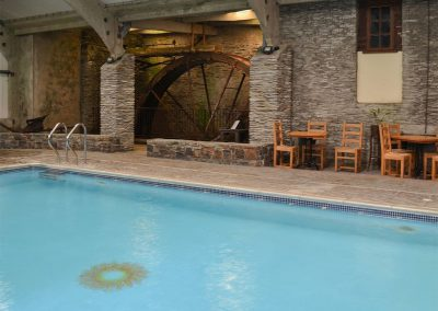 The indoor swimming pool at Trimstone Manor Cottages, Trimstone