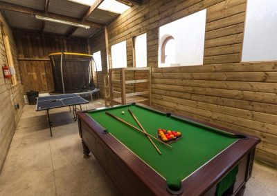 The games barn at Grange Court, Bossiney
