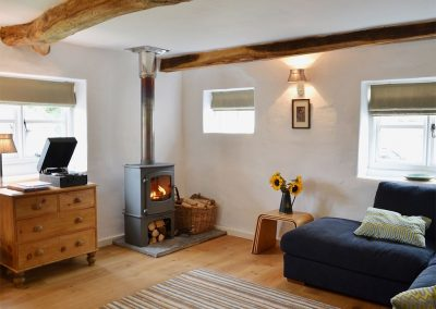 The living area at Granny McPhee's Cottage, Chilla