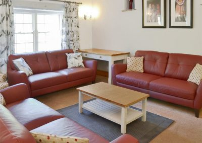 The sitting area at Great Horner, Halwell
