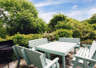 The terrace & barbecue area at Great Horner, Halwell