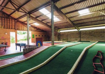 The games barn at Great Horner, Halwell