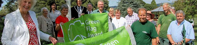 Ten Cornish parks and gardens are raising the Green Flag Award over their properties in 2012 after being nationally recognized as some of the very best green public spaces in the UK.