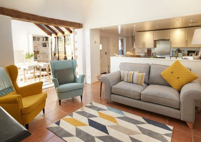 The living area at Green Knowe Cottage, Knowstone