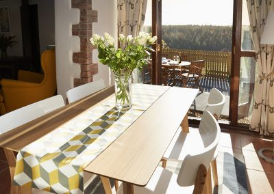 The dining area at Green Knowe Cottage, Knowstone