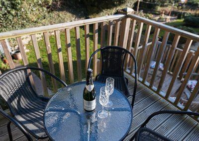 The furnished deck @ Guillemots, Brixham