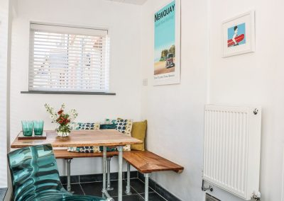 The dining area at Gull Rock, Trebarwith