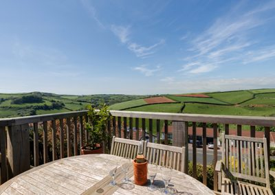 The balcony with countryside views @ Guyscliff, Salcombe