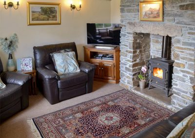 The living area at Gwel-An-Porth, Charlestown Cottages, Charlestown