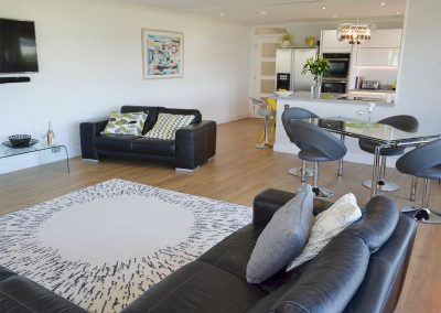 The living area at Gwel An Porth, Falmouth
