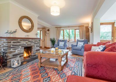 The living area at Gwella, Roserrow, Polzeath