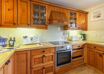 The kitchen at Gwella, Roserrow, Polzeath