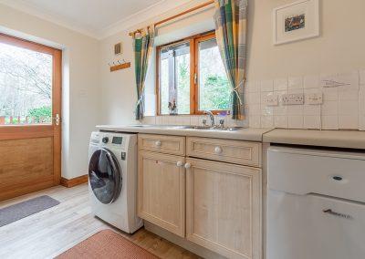 The utility room at Gwella, Roserrow, Polzeath