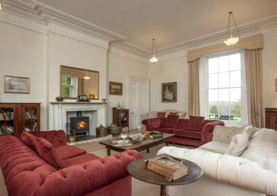 The drawing room at Hallsanery House, Landcross