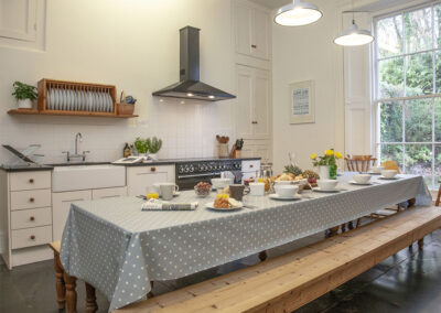 The kitchen at Hallsanery House, Landcross