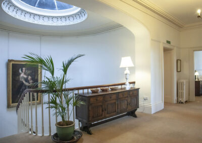 The first floor landing at Hallsanery House, Landcross