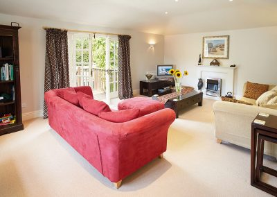 The living area at Hamilton House, Branscombe