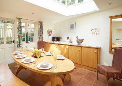 The dining area at Hamilton House, Branscombe