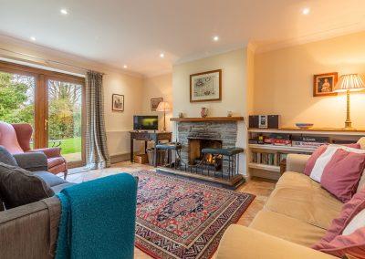The living area at Hampden, Roserrow, Polzeath