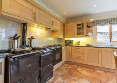 The kitchen at Hampden, Roserrow, Polzeath