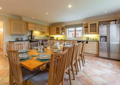 The dining area at Hampden, Roserrow, Polzeath