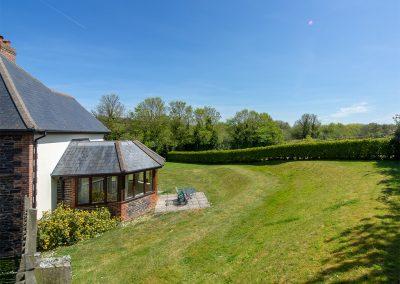 The garden at Hampden, Roserrow, Polzeath