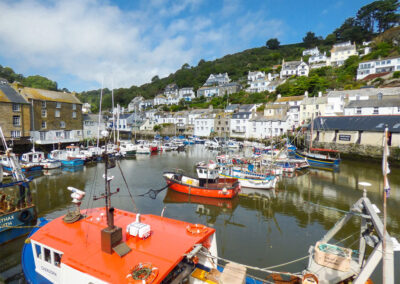 The unspoilt fishing village of Polperro