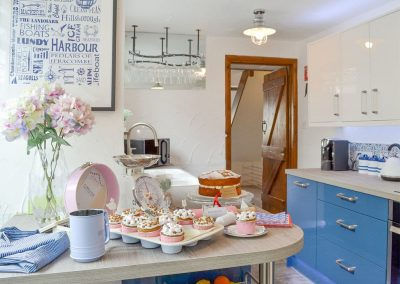 The kitchen at Harbour Hideaway, Ilfracombe