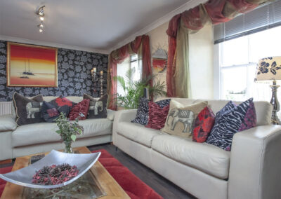 The living area at Harbour Lights, Torquay
