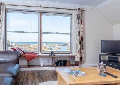 The living area at Harbour Tavern Penthouse, Mevagissey